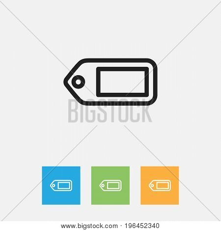 Vector Illustration Of Shopping Symbol On Label Outline