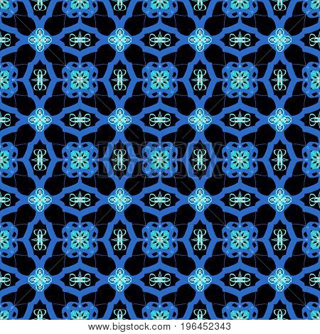This gorgeous blue abstract seamless pattern is just waiting for you to turn it into something spectacular! The black background really makes the colors pop!