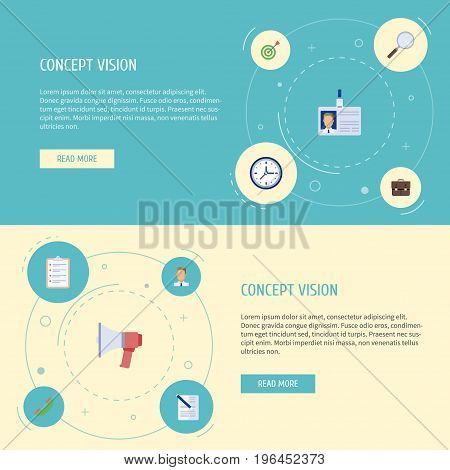 Flat Icons Contract, Clock, Portfolio And Other Vector Elements