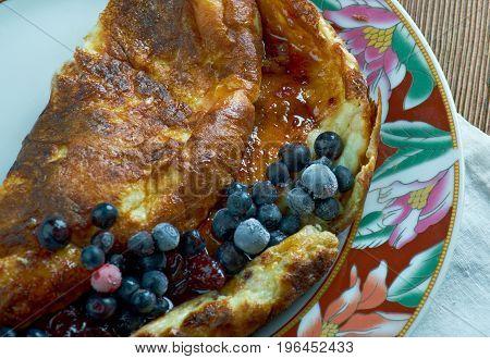 Omlet biszkoptowy - sweet omelette In Poland Austria Galichyna