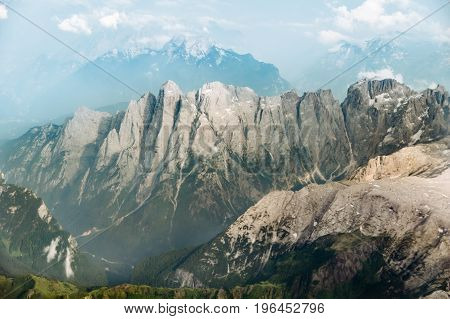 Aerial View Of The Italian Alps Near Bolzano