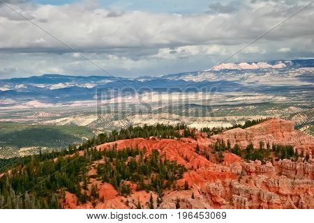 View from viewpoint of Bryce Canyon. Utah. USA.