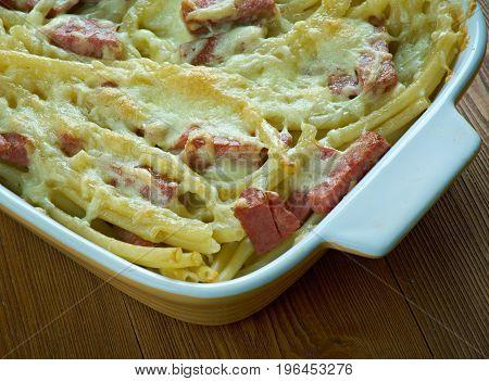 Italian Baked Pasta With Salami