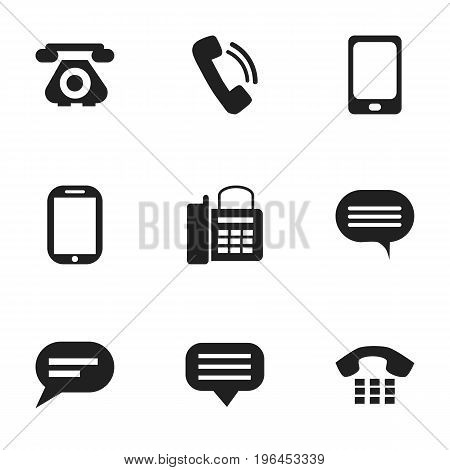 Set Of 9 Editable Device Icons. Includes Symbols Such As Talking, Chat, Forum And More