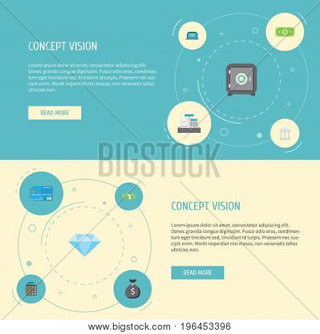 Flat Icons Computer, Bank, Accounting And Other Vector Elements