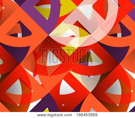 Cut paper circles, mosaic mix geometric pattern design. Business or technology presentation template, brochure or flyer layout, or geometric web banner