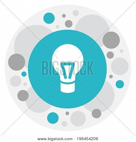 Vector Illustration Of Science Symbol On Bulb Icon