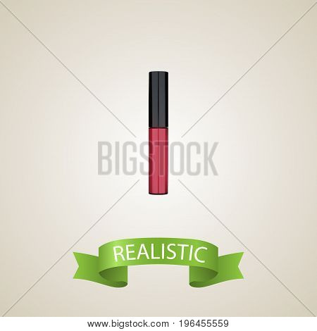 Realistic Pomade Element. Vector Illustration Of Realistic Liquid Lipstick Isolated On Clean Background