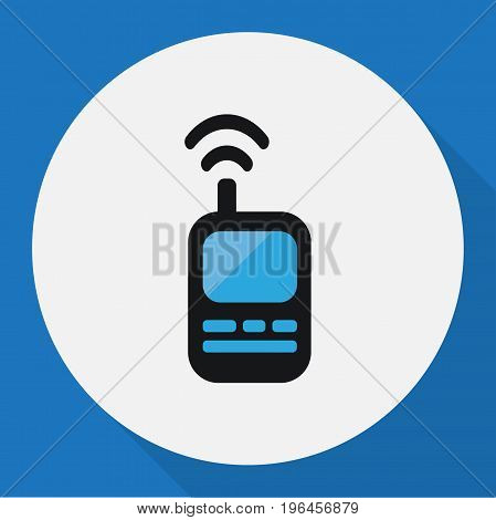 Vector Illustration Of Procuring Symbol On Remote Radio Flat Icon