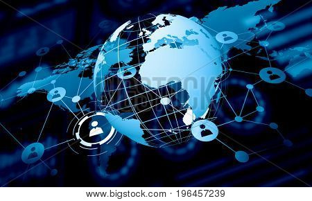 Modern connection technologies background