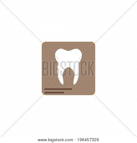 Flat Icon Dental X-Ray Element. Vector Illustration Of Flat Icon Radiology Isolated On Clean Background