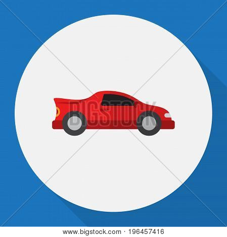 Vector Illustration Of Automobile Symbol On Automobile Flat Icon