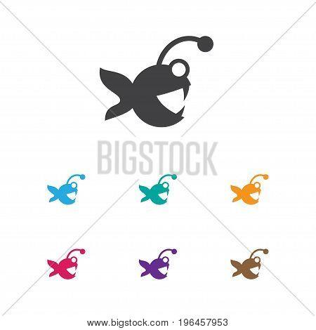 Vector Illustration Of Animal Symbol On Aquatic Icon
