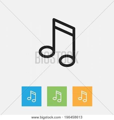 Vector Illustration Of Education Symbol On Note Outline