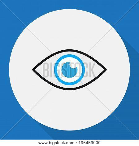 Vector Illustration Of Procuring Symbol On Eye Flat Icon