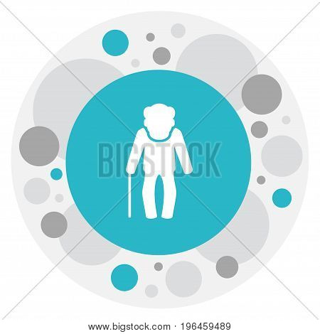 Vector Illustration Of Relatives Symbol On Grandfather Icon
