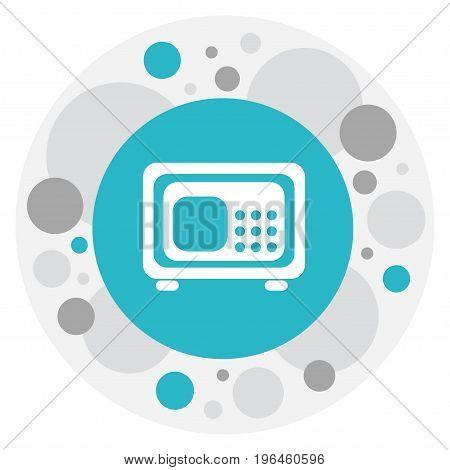 Vector Illustration Of Banking Symbol On Strongbox Icon