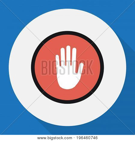 Vector Illustration Of Procuring Symbol On Palm Flat Icon