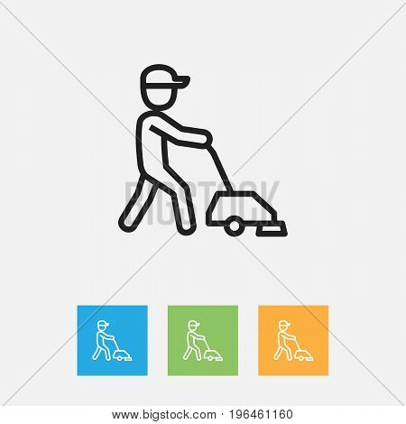 Vector Illustration Of Cleaning Symbol On Service Outline