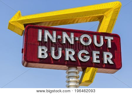 Las Vegas - Circa July 2017: In-N-Out Burger Fast Food Location. In-N-Out is incredibly popular in the southwestern US VI
