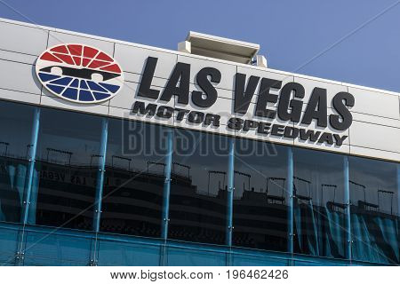 Las Vegas - Circa July 2017: Las Vegas Motor Speedway. LVMS hosts NASCAR and NHRA events including the Pennzoil 400 IV
