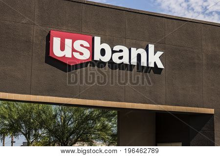 Las Vegas - Circa July 2017: U.S. Bank and Loan Branch. US Bank is ranked the 5th largest bank in the United States V