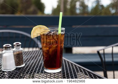 Iced Tea On A Table