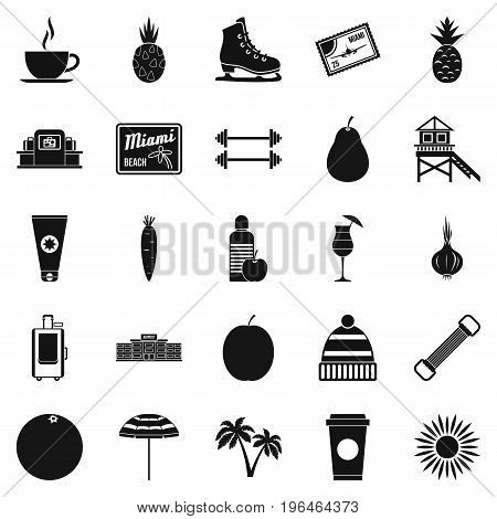 Discipline icons set. Simple set of 25 discipline vector icons for web isolated on white background