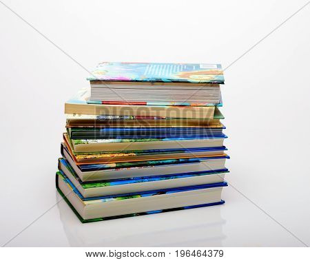 Books stacked on top of each other