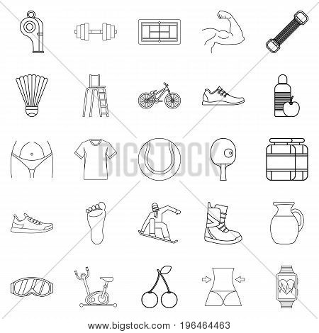 Coaching icons set. Outline set of 25 coaching vector icons for web isolated on white background