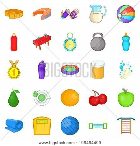 Athletics icons set. Cartoon set of 25 athletics vector icons for web isolated on white background