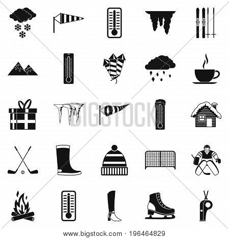 Christmas presents icons set. Simple set of 25 christmas presents vector icons for web isolated on white background
