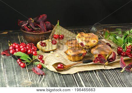 Homemade Cherry Muffin