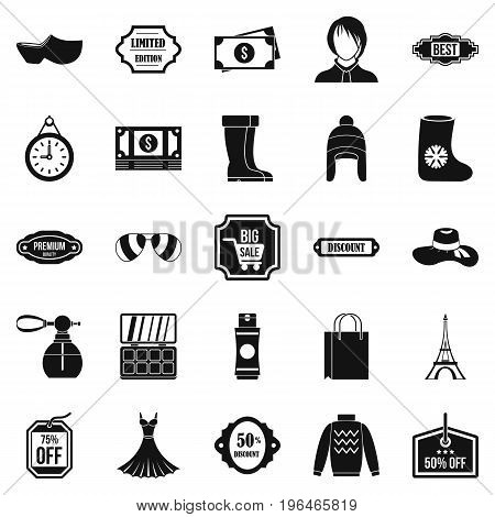 Discounts icons set. Simple set of 25 discounts vector icons for web isolated on white background