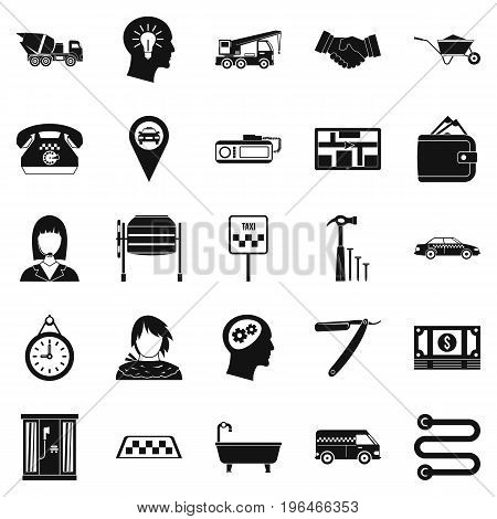 Call centre icons set. Simple set of 25 call centre vector icons for web isolated on white background