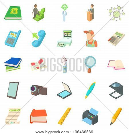 Researcher icons set. Cartoon set of 25 researcher vector icons for web isolated on white background