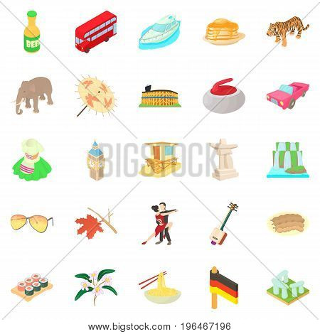 Germany icons set. Cartoon set of 25 germany vector icons for web isolated on white background