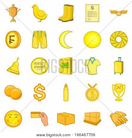 European sign icons set. Cartoon set of 25 european sign vector icons for web isolated on white background