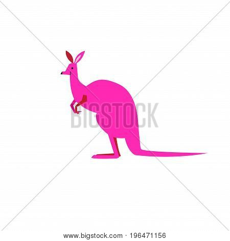 Vector symbol of a kangaroo color on a white background
