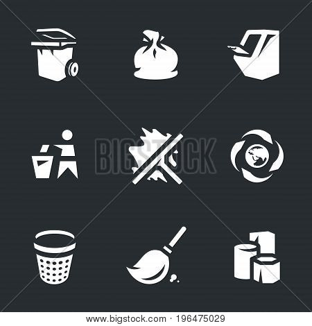 Garbage, can, bag, garbage disposal, man, scraper, recycling, urn, broom, scrap metal.