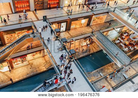 Top View Of Walkways, The Shoppes At Marina Bay Sands