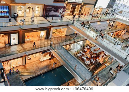 View Of Stores At The Shoppes At Marina Bay Sands