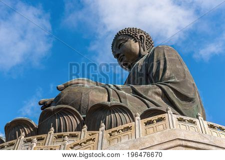 Tian Tan Buddha statue at Po Lin Monastery in Hong Kong