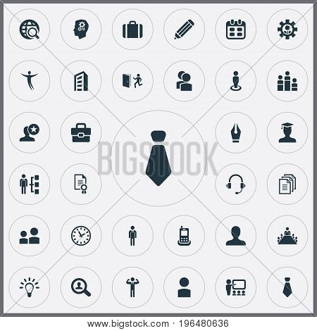 Elements Award, Earmuff, Student And Other Synonyms Profile, Date And World. Vector Illustration Set Of Simple Hr Icons.