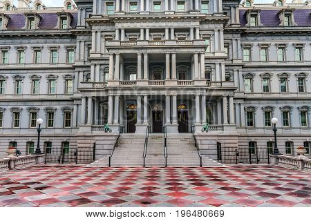 Old Executive Office Building Dwight Eisenhower Building Vice President's Office Washington DC. Located next to White House built from 1871 to 1888