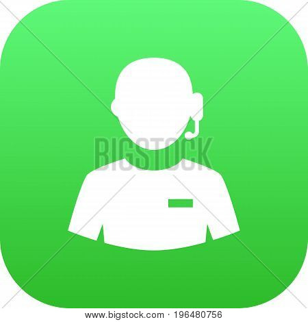 Isolated Support Icon Symbol On Clean Background. Vector Call Center  Element In Trendy Style.