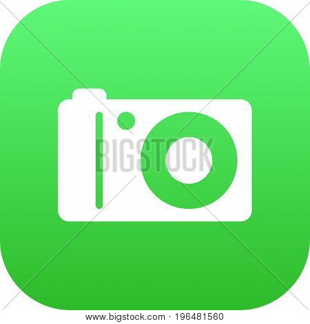 Isolated Photographing Icon Symbol On Clean Background. Vector Photo Camera Element In Trendy Style.