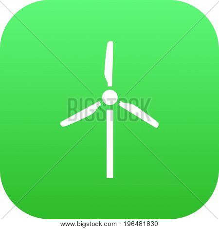 Isolated Wind Turbine Icon Symbol On Clean Background