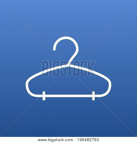 Isolated Rack Outline Symbol On Clean Background. Vector Hanger Element In Trendy Style.