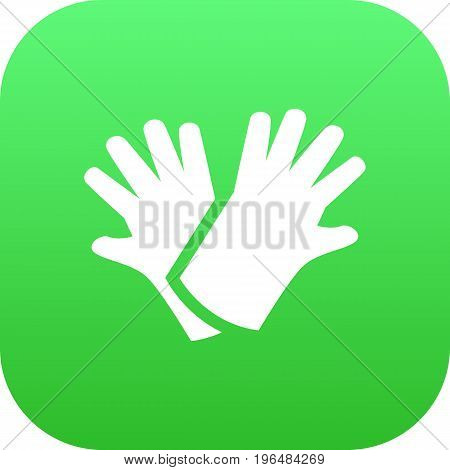 Vector Latex  Element In Trendy Style. Isolated Gloves Icon Symbol On Clean Background.